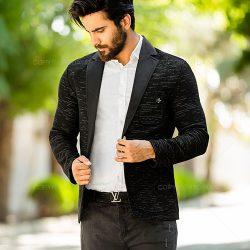 کت اسپورت بافت مردانه کیان Kiyan مدل ۱۱۱۷۵ رنگ مشکی