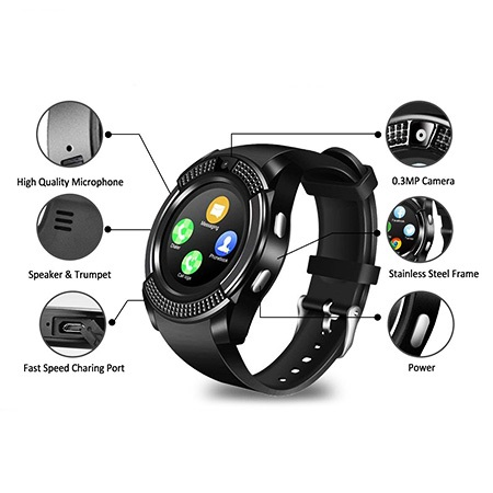 ساعت مچی هوشمند سیمکارتخور V8 Smart Watch
