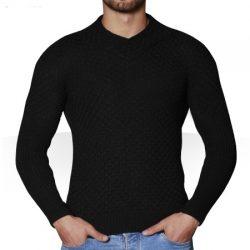 بافت آستین بلند مردانه یقه هفت ژاک – لباس گرم مردانه