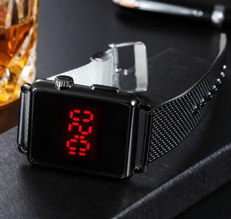 ساعت LED صفحه لمسی طرح Apple - ساعت ال ای دی طرح اپل