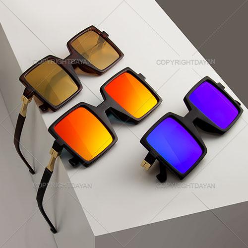 عینک آنتی رفلکس مربعی Alexina - عینک فانتزی زنانه و مردانه uv400