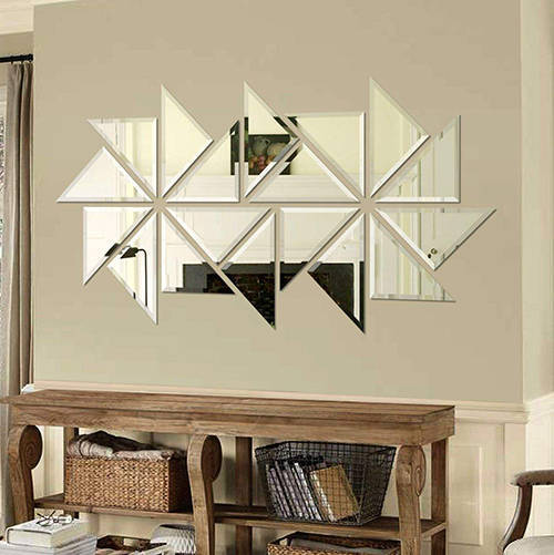 آینه سایان هوم مدل CA018 - آینه مثلثی 18 تکه دکوراتیو