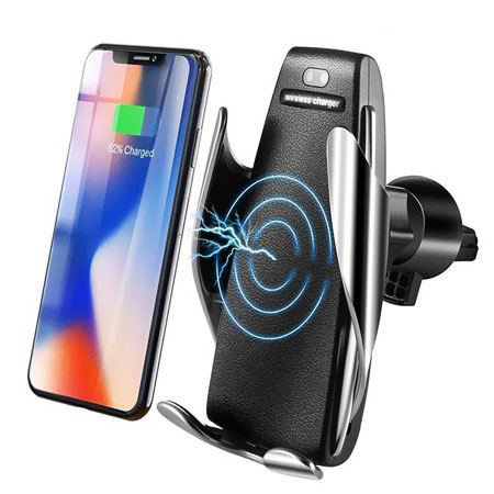 پایه نگهدارنده و شارژر وایرلس اتومبیل S5 - هولدر اتوماتیک و شارژر گوشی موبایل