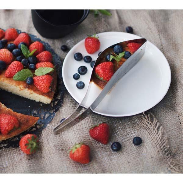 اسلایسر کیک فلزی - برش زن و کفگیر سرو منحنی شکل