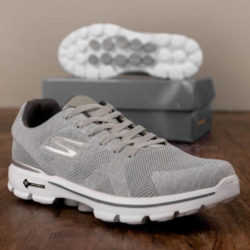 کفش مردانه Skechers Gowalk - کفش کفدوخت اسکیچرز گووالک طوسی