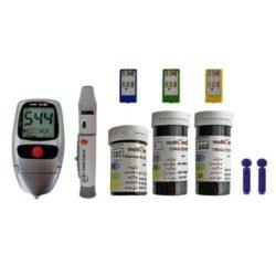 دستگاه تست 3 کاره مالتی کر - تست قند ، کلسترول و تری گلیسیرید خون