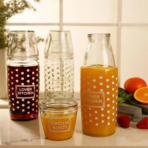 پارچ و لیوان شیشه ای شب - پارچ آب شیشه ای همراه لیوان