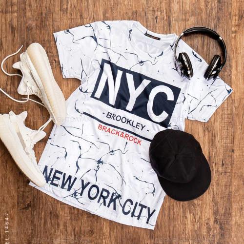 تیشرت مردانه New york مدل 14647 - تی شرت آستین کوتاه چاپی