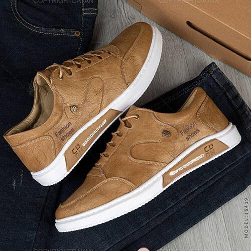 کفش مردانه Fashion - کفش اسپورت فشیون مشکی و قهوه ای