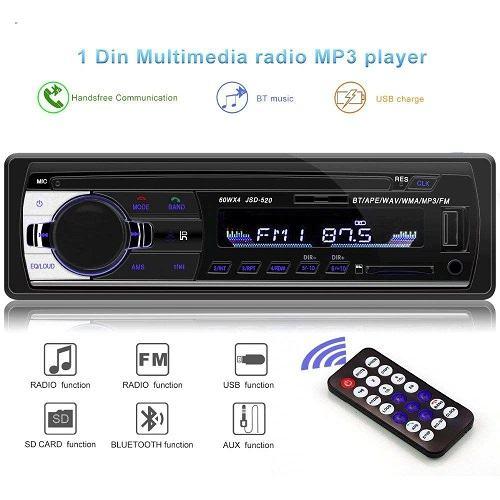 پخش کننده خودرو مدل JSD-520 BT - ضبط ماشین بلوتوث دار