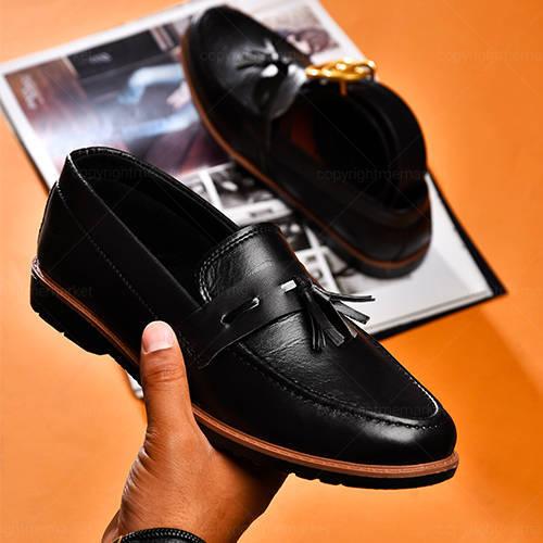 كفش مردانه مدل LARFO - کفش کالج مشکی مردانه لارفو