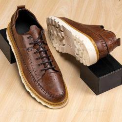 کفش مردانه Araz مدل 15264 - کفش آراز با رویه چرم مصنوعی