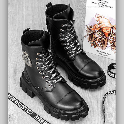 نیم بوت زنانه Fashion مدل 16831 - کفش ساقدار دخترانه فشیون