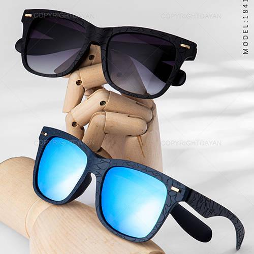 عینک آفتابی مردانه Maran - عینک مستطیلی آبی آیینه ای