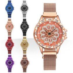 ساعت مچی Chanel مدل Rotation - ساعت نگین دار صفحه چرخشی