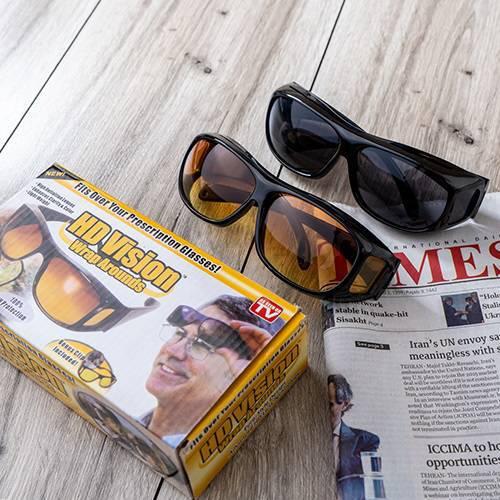عينك آفتابی HD VISION - پک دوقلوی عینک اچ دی ویژن